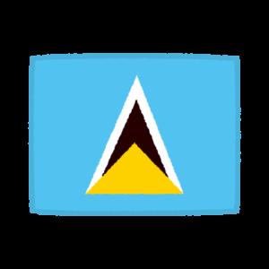 国旗のイラスト(セントルシア)