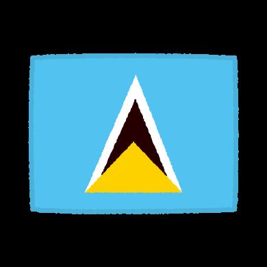 国旗のイラスト(セントルシア)(2カット)
