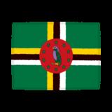 国旗のイラスト(ドミニカ国)