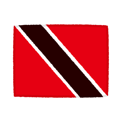 国旗のイラスト(トリニダード・トバゴ)(2カット)