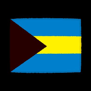 国旗のイラスト(バハマ国)(2カット)