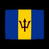 国旗のイラスト(バルバドス)