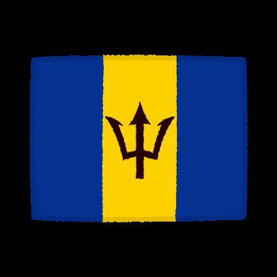 国旗のイラスト(バルバドス)(2カット)