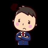 悩むイラスト(男性・ビジネスマン)