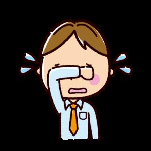 泣く表情のイラスト(男性・ビジネスマン)