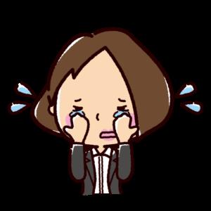 泣く表情のイラスト(女性・OL)