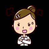 怒る表情のイラスト(女性・OL)
