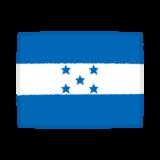 国旗のイラスト(ホンジュラス共和国)