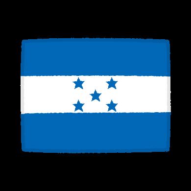 国旗のイラスト(ホンジュラス共和国)(2カット)