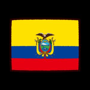 国旗のイラスト(エクアドル共和国)