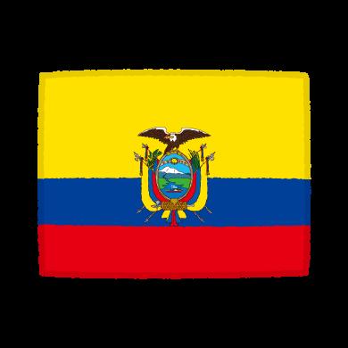 国旗のイラスト(エクアドル共和国)(2カット)