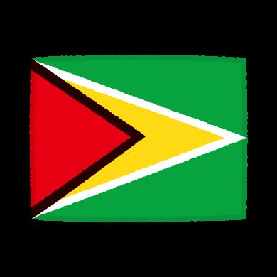 国旗のイラスト(ガイアナ共和国)(2カット)