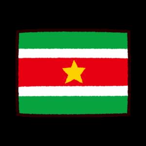 国旗のイラスト(スリナム共和国)