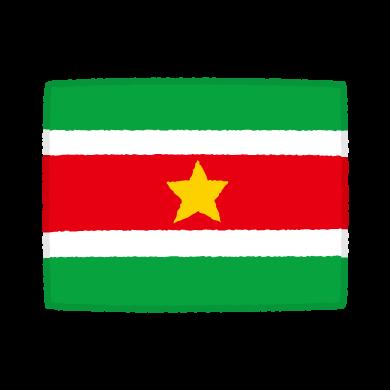 国旗のイラスト(スリナム共和国)(2カット)