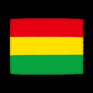 国旗のイラスト(ボリビア他民族国)