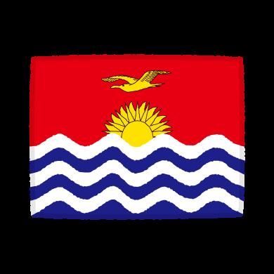 国旗のイラスト(キリバス共和国)(2カット)