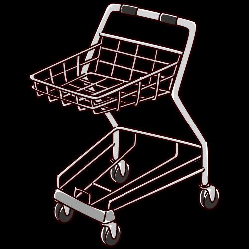 ショッピングカートのイラスト(2カラー)
