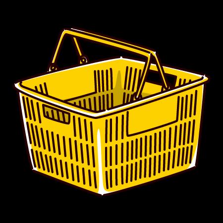 買い物かごのイラスト(4カラー)