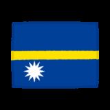国旗のイラスト(ナウル共和国)