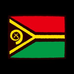 国旗のイラスト(バヌアツ共和国)