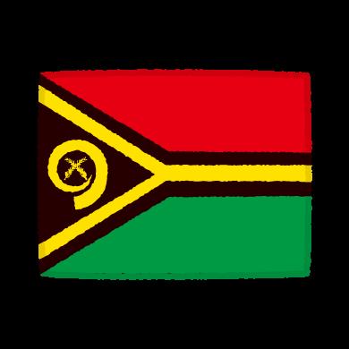 国旗のイラスト(バヌアツ共和国)(2カット)