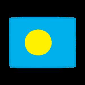 国旗のイラスト(パラオ共和国)