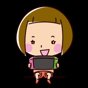 ゲームをする子供のイラスト(女の子)