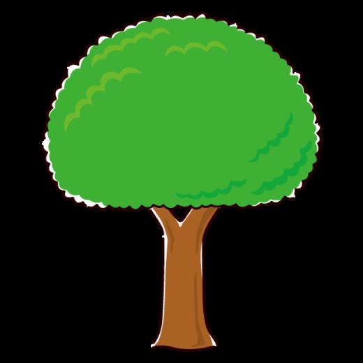 木のイラスト2(3カラー)