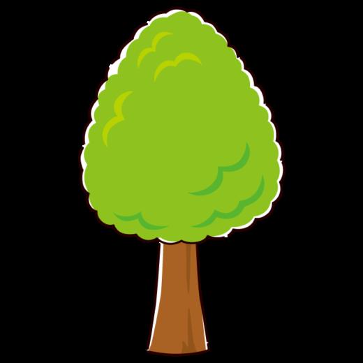 木のイラスト3(3カラー)