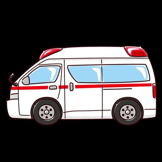 救急車のイラスト(2カット)