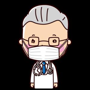 マスクをした医者のイラスト