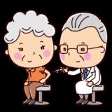 ワクチン・予防接種のイラスト(おばあさん)