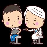 ワクチン・予防接種のイラスト(男性)