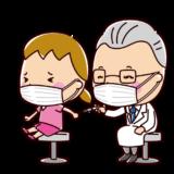 ワクチン・予防接種のイラスト(女の子)