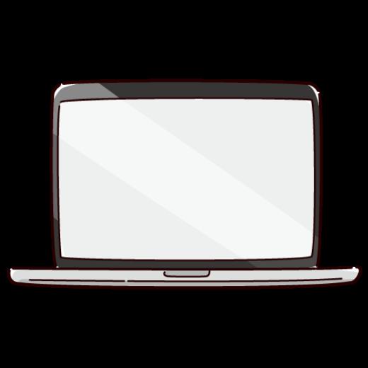 ノートパソコンのイラスト(2カラー)