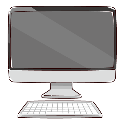 パソコンのイラスト(2カラー)