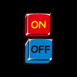 ONボタンのイラスト