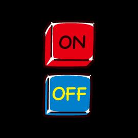 OFFボタンのイラスト
