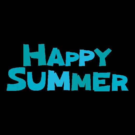 文字のイラスト(HAPPY SUMMER)(1段2段・3カラー)