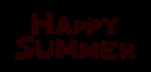 文字のイラスト(HAPPY SUMMER)
