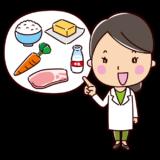 説明をする栄養士のイラスト(女性)