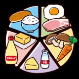 シンプルな五大栄養素表のイラスト