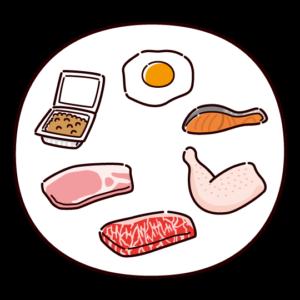 タンパク質を多く含む食品のイラスト