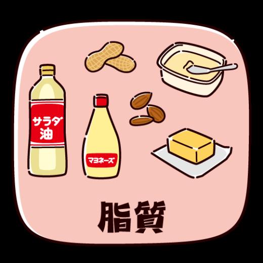 脂質を多く含む食品のイラスト(2カット)