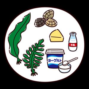 ミネラルを多く含む食品のイラスト
