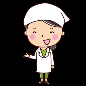 紹介をする栄養士のイラスト(女性)