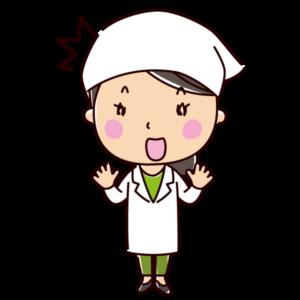 驚く栄養士のイラスト(女性)