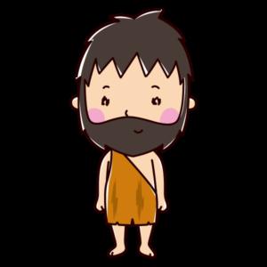 原始人のイラスト(男性)