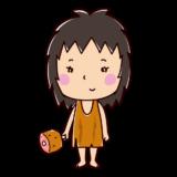 原始人のイラスト(女性)