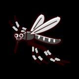 飛ぶ蚊のイラスト